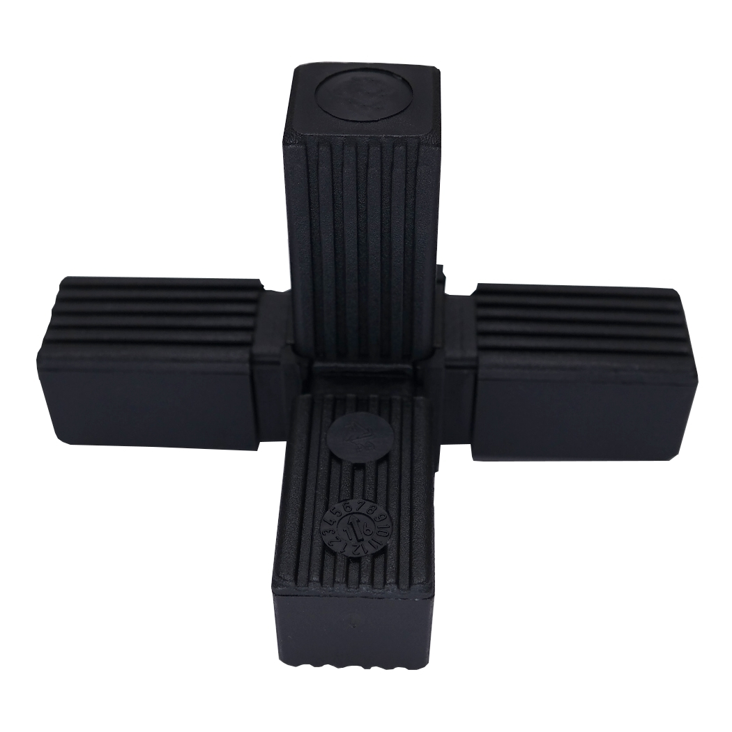 30er steckverbinder t st ck mit abgang f r vierkantrohr alu. Black Bedroom Furniture Sets. Home Design Ideas