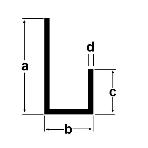 Ordentlich Alu U-Profil 20x6,6x9x1,3mm Aluprofil Aluminium 1 Meter - Alu-Spezi.de SQ66