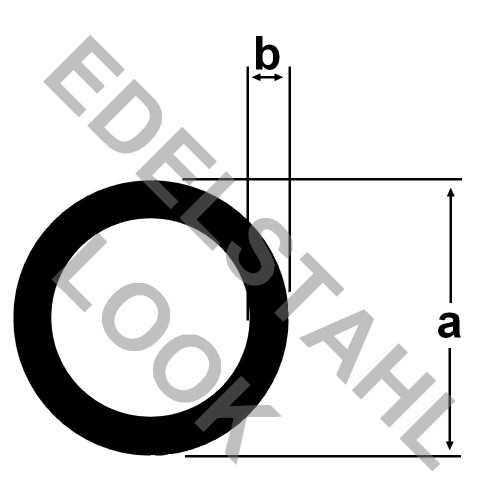 alu rundrohr 10x1mm geb rstet eloxiert edelstahl look 1 meter aluprofil aluminium alu. Black Bedroom Furniture Sets. Home Design Ideas