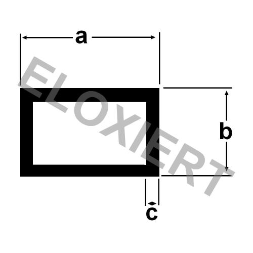 aluminium rechteckrohr 40x20x2mm eloxiert 2m lang alu. Black Bedroom Furniture Sets. Home Design Ideas
