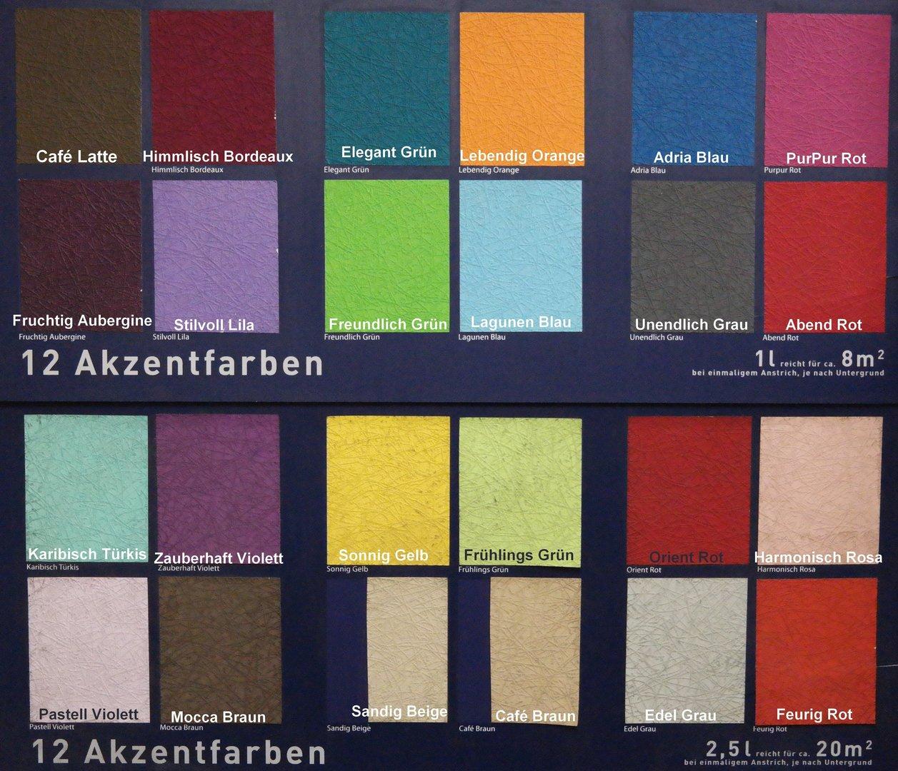 Einfach SCHÖNER Farbwelten Wandfarbe Abgetönt, Abtönfarbe