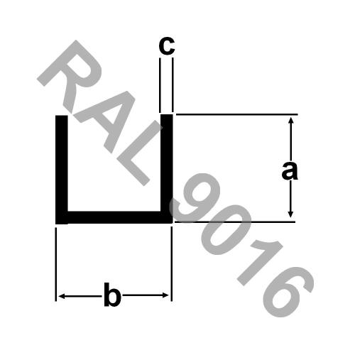 Alu Rechteckrohr pulverbeschichtet 2 Meter RAL 9016 Aluprofil WEISS